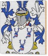 Hanna Coat Of Arms Irish Wood Print