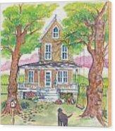 Hannah's House Wood Print