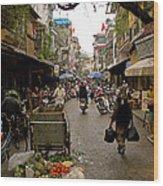 Hanoi Street Market    Wood Print