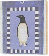 Hanukka Penguin Three Wood Print