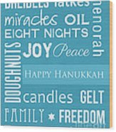 Hanukkah Fun Wood Print