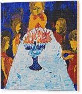 Hanukkah Menorah Wood Print