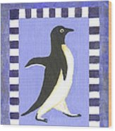 Hanukkah Penguin Two Wood Print