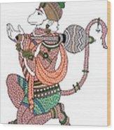 Hanuman Wood Print by Kruti Shah