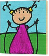 Happi Arte 7 - Girl On Jump Rope Art Wood Print