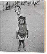 Happiness In India Wood Print