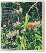 Happiness Is A Butterfly Wood Print