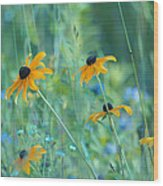 Happiness Is In The Meadows Wood Print