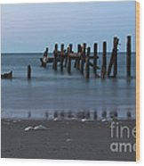 Happisburgh Beach Groynes Wood Print