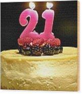 Happy 21st Birthday Wood Print