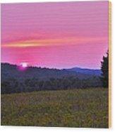 Happy Anniversary Sunset Wood Print