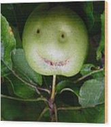 Happy Apple Wood Print