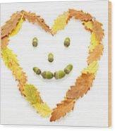 Happy Autumn Wood Print