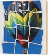 Happy Balloon Ride Wood Print