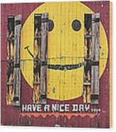 Happy Barn Wood Print