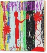 Happy Birthday 7 Wood Print