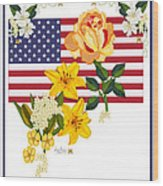 Happy Birthday America 2013 Wood Print by Anne Norskog