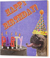 Happy Birthday Card Wood Print by Edward Fielding