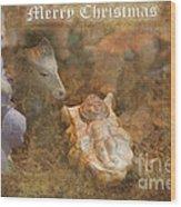 Happy Birthday Jesus Wood Print