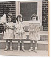 Happy Birthday Retro Photograph Wood Print
