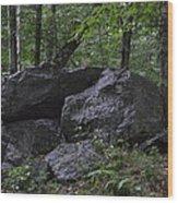 Happy Boulder Wood Print