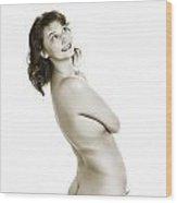 Happy Butt 1041.01 Wood Print