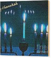 Happy Chanukah Wood Print