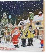 Happy Christmas Wood Print