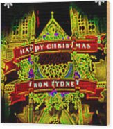 Happy Christmas From Sydney Wood Print