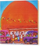Happy Days At The Big  Orange Wood Print