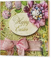 Happy Easter 2 Wood Print