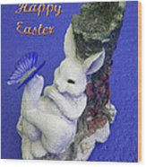 Happy Easter Card 3 Wood Print