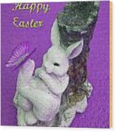 Happy Easter Card 4 Wood Print