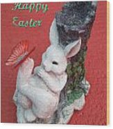 Happy Easter Card 5 Wood Print
