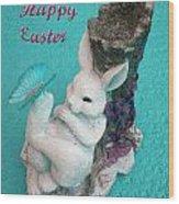 Happy Easter Card 6 Wood Print