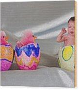 Happy Easter 3 Wood Print