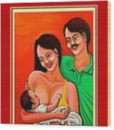 Happy Family Wood Print