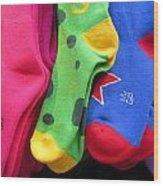 Wear Loud Socks Wood Print