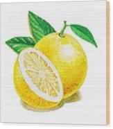 Happy Grapefruit- Irina Sztukowski Wood Print