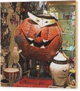 Halloween This Way Wood Print