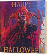 Happy Halloween Jack Wood Print