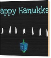Happy Hanukkah 4 Wood Print