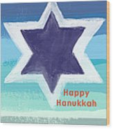 Happy Hanukkah Card Wood Print