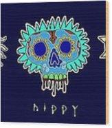 Happy Hippy Hopey Wood Print