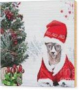 Xmas Holidays Greeting Card 108 Wood Print