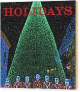 Happy Holidays Wood Print