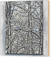 Happy Holidays Greeting - Icicles On Trees Wood Print