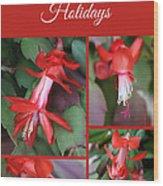 Happy Holidays Natural Christmas Card Or Canvas Wood Print