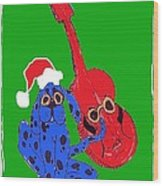 Happy Hunka Holiday Wood Print