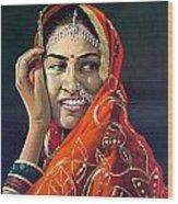 Happy Indian Women Wood Print